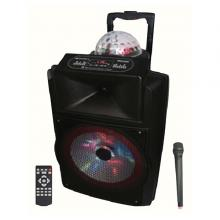 Olsenmark OMMS1166 12-inch Rechargeable Speaker with Remote Control & Mic-LSP