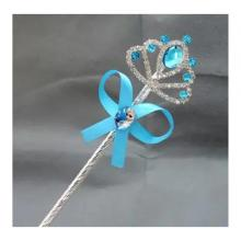 Cartoon Childrens Role Playing Hair Accessories Blue Magic Wand-LSP