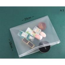 Frosted Transparent Zipper File Pocket A5 Frosted-LSP