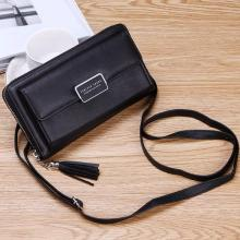 Forever Young Purse Fashion Wallet Korean Style 2 In 1 Slings Bag And Purse, Black-LSP