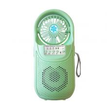 Portable Rechargeable Speaker With Fan (CH-F306), Green03