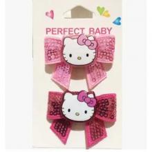 Hello Kitty Shiny Bow Hairpin Long Bowknot-LSP