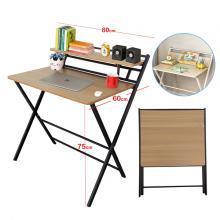Folding Table Computer Desk Simple Desk For Living Room Brown GM549-br-LSP