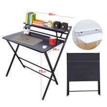 Folding Table Computer Desk Simple Desk For Living Room Black GM549-bl-LSP