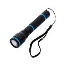 Olsenmark OMFL2657 Rechargeable Waterproof LED Flashlight, Black-LSP