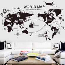 Travel the World Map Vinyl Wall Stickers-LSP