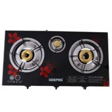 Geepas GK6759 Triple Burner Gas Cooker With Tempered Glass Top-LSP