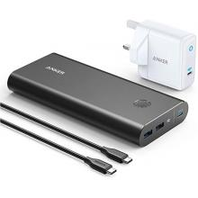 Anker B1376V11 PowerCore+ 26800mAh PD 45W with 60W PD Charger for USB C Laptops MacBook Air/Pro/Dell XPS/iPad Pro and More-LSP