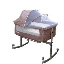 Sweet Dreams Besides Co Sleeper With Mosquito Net Brown GM385-br-LSP