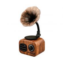 Mini Portable Wireless Audio Wood Speaker Retro Large Volume Gramophone