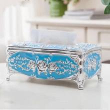 European Style Light Luxury Acrylic Tissue Box Blue-LSP
