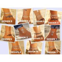 11 New Fashion Bohemian Anklet Set For Women-LSP