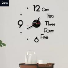 2021 Top Selling 3D Wallpaper Sticker Clock 2Pcs03