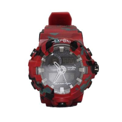 EXPONI Dual Time 20 Bar Water Resistant Sports Watch -LSP