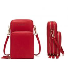 Forever Young Multifunctional Crossbody and Shoulder Bag For Women, Red-LSP