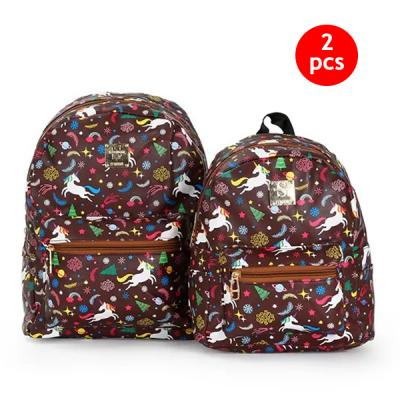2 IN 1 Combo 10-Inch And 13-Inch Okko Mochila Backpack GH-179- Brown-LSP