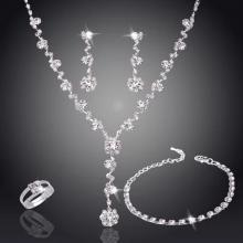 SIGNATURE COLLECTIONS SGR005 Bridesmaid Fashion Luxurious Rhinestone 5 pcs Jewellery Set 1-LSP