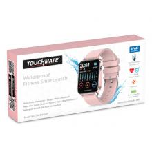 Touchmate TM-SW450P Full Touch Fitness Smartwatch, Pink-LSP