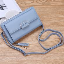 Forever Young Purse Fashion Wallet Korean Style 2 In 1 Slings Bag And Purse, Blue-LSP