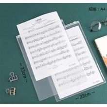 Frosted Transparent Zipper File Pocket A4 Frosted Vertical Section-LSP