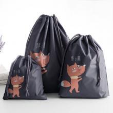 PEVA Waterproof Design High Quality Travel Bags 3 Pcs, Black-LSP