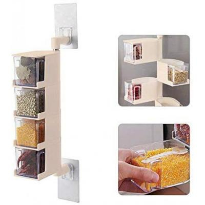 4 Layer Multi functional kitchen storage container rack 1 pcs-LSP