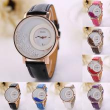 CLAUDIA Quartz Watch With Leather Strap for Women, Assorted Color-LSP