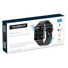 Touchmate TM-SW450B Full Touch Fitness Smartwatch, Black-LSP
