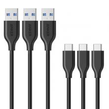 Anker A8163H11 PowerLine 3ft USB-C to USB 3.0 (3ft) Black-LSP
