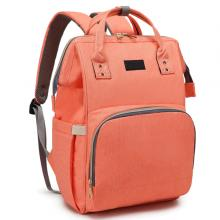 Diaper Bag Backpack and Multifunction Travel Backpack, Water Resistance and Large Capacity, Orange-LSP
