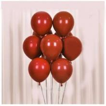 Double Ruby Red Round Balloons 50 Pieces / 1 Pack-LSP