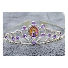 Cartoon Childrens Role Playing Hair Accessories Purple Princess Crown-LSP