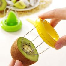Multi-functional Fruit Cutter Kiwifruit Peeling Digging Core Twister Slicer, Assorted Color