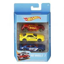 Hot Wheels Basic  3 Car Pack- K5904-LSP