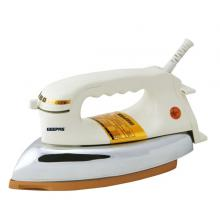 Geepas GDI2780 Heavy Weight Dry Iron 2.5 Kg GoldenTeflon Coating -LSP