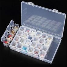 Multipurpose 28 Grid Acrylic Separate Slots Jewelry Storage Box-LSP