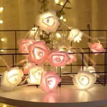 Most Selling Rose Flower LED Decorative String Lights 2Pcs-LSP