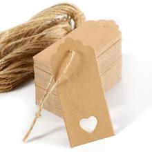 Vintage Rectangle Kraft Paper Pendant Labels Gift Tags (100pcs)-LSP