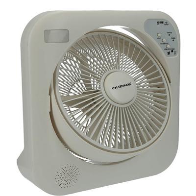 Olsenmark OMF1751 12 Inch Rechargeable Box Fan, White-LSP