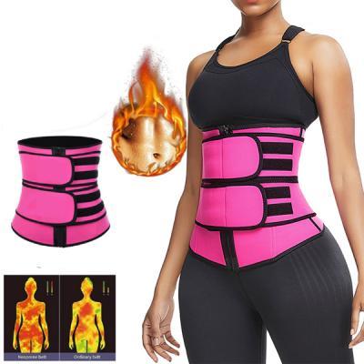 SWEATFIT Adjustable Slimming Waist Trimmer Pink-LSP