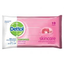 Dettol Anti Bacterial Skin Wipes Skin Care, 10 Counts-LSP