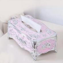 European Style Light Luxury Acrylic Tissue Box Pink-LSP