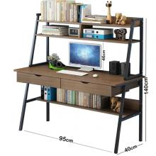 Strong Computer Desk With 3 Shelfs Brown GM549-3-br-LSP