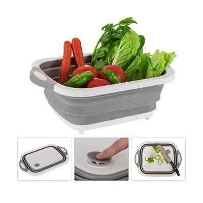 Home care 3 in 1 Collapsable Cutting Board, Dish Wash And Drain Sink Storage SK0129-LSP