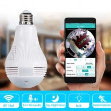 Loosafe 360 Degree Panoramic View Bulb Wifi Security Camera-LSP