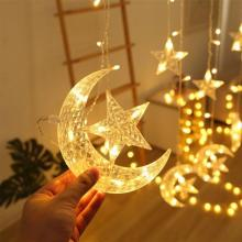 2021 Amazon Hot Selling Star Inside Moon LED Decorative Lights Warm White 3.5m -LSP