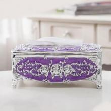 European Style Light Luxury Acrylic Tissue Box Purple-LSP