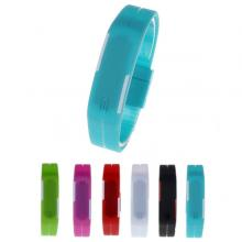 Sport Digital LED Watch Silicone Bangle Jelly Waterproof Bracelet for Unisex, Assorted Color-LSP