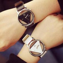 Unique Hollowed-out Triangular Dial Quartz Couple Watches, Assorted Color -LSP