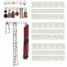 Adhesive Jewelry Hooks Wall Mount Storage Holder (9 Pcs)03